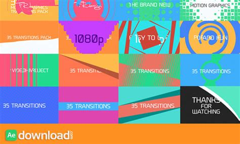 Cool Transitions After Effects Templates by 35 Cool Motion Graphics Transitions Videohive Dropbox