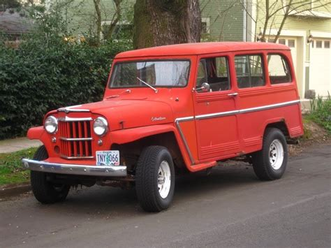 older jeep vehicles old parked cars 1961 willys jeep overland station wagon