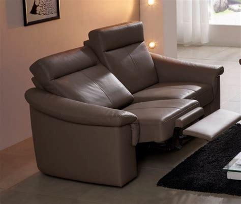 canapé relax petit canapé relax électique cuir ou tissu 2 places johnjohn