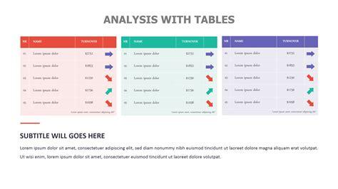 comparison chart templates  powerpoint