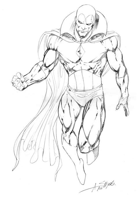 vision sketch in darrin wiltshire s andy smith comic