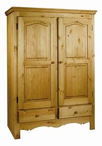 Armoire En Pin Massif : armoire penderie rustique en pin massif grenier alpin ~ Teatrodelosmanantiales.com Idées de Décoration