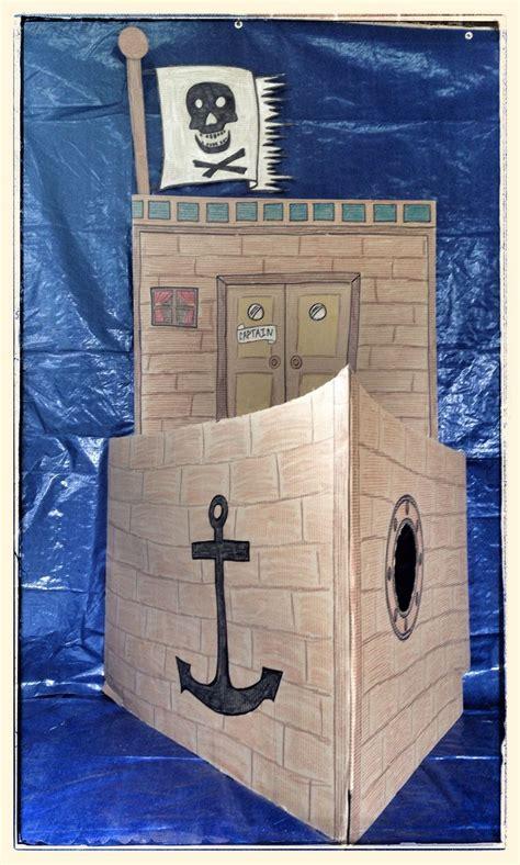 ideas  cardboard pirate ships  pinterest