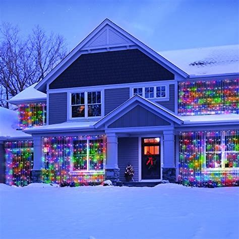 led concepts 300 led curtain string icicle lights