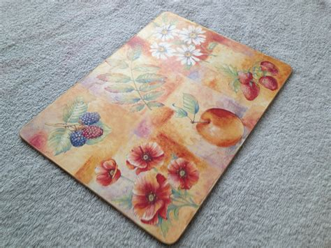 how to mat a print upcycling table mats with blackboard paint