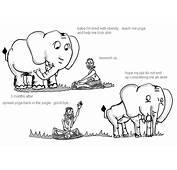 Yoga And The Elephant  MySayin Political Cartoons