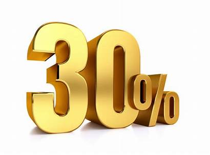 Percent Premium Gold Background Discount Metal Number