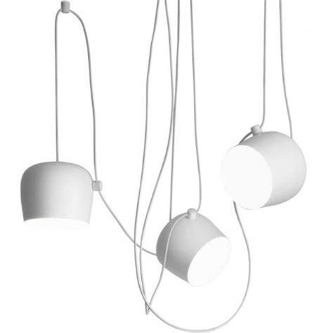 suspension rosace multiple led aim flos blanc jusqu 192 5
