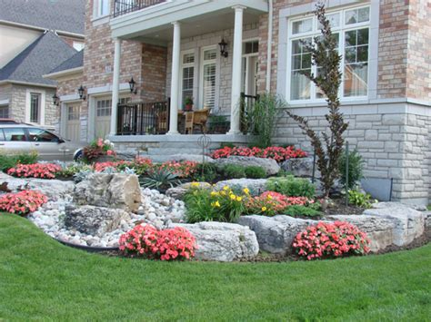 High Resolution Landscaping With Stones #9 Front Yard