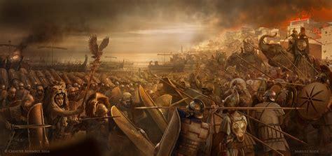 siege city artstation siege of carthage scipio africanus mariusz