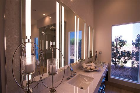 Master Bathroom Mirrors by Custom Glass For A Sunwest Custom Home Build A Cutting