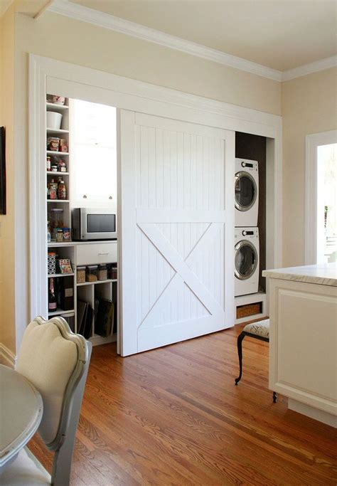Hideaway Closet Doors by 15 Laundry Spaces That Cleverly Conceal Their Unsightly