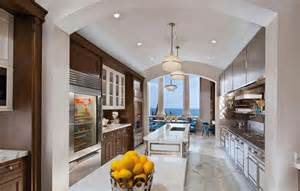 galley kitchens with islands 22 luxury galley kitchen design ideas pictures