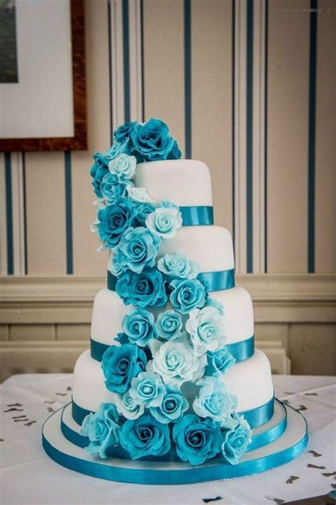 25 best ideas about turquoise wedding cakes on teal wedding cakes turquoise cake
