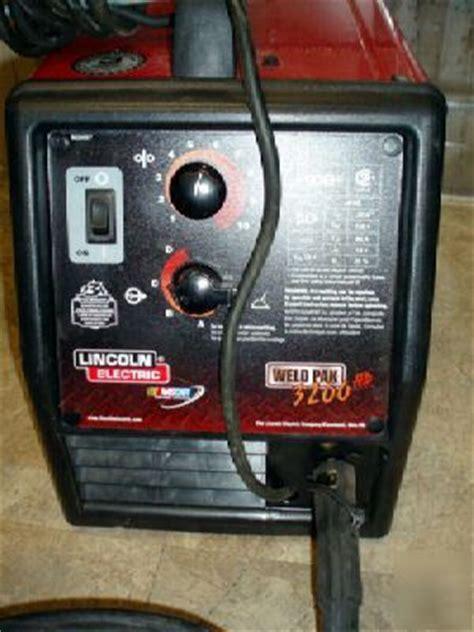lincoln electric  weld pak hd wire feed welder