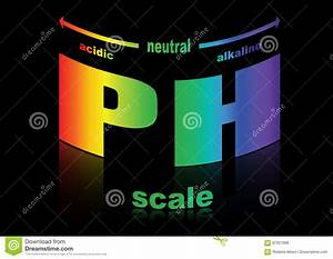 Blood Test Tube Color Chart Ph Scale Litmus Paper Color Chart Vector Illustration
