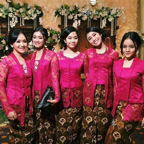 model kebaya seragam merah trend  pernikahan acara