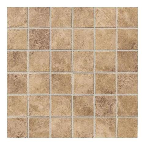 home depot golden daltile salerno marrone chiaro 12 in x 24 in 6 mm glazed ceramic mosaic floor and wall tile