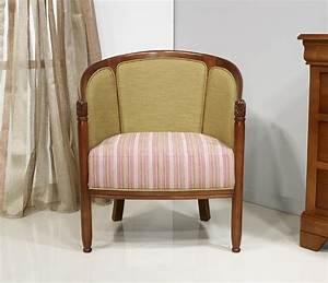 Fauteuil De Style : fauteuil cabriolet en h tre massif de style louis philippe meuble en merisier ~ Teatrodelosmanantiales.com Idées de Décoration