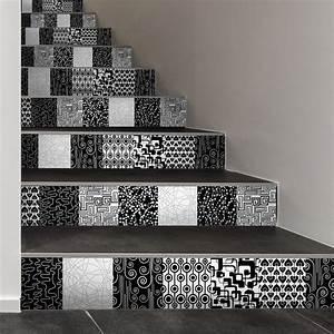 Escalier Carreaux De Ciment : stickers escalier carreaux de ciment meja x 2 ambiance ~ Dailycaller-alerts.com Idées de Décoration