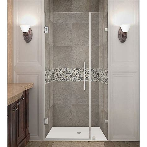 aston nautis      frameless hinged shower door