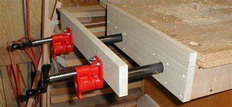 inexpensive   build  moxon vice bench mounted broad area clamping device