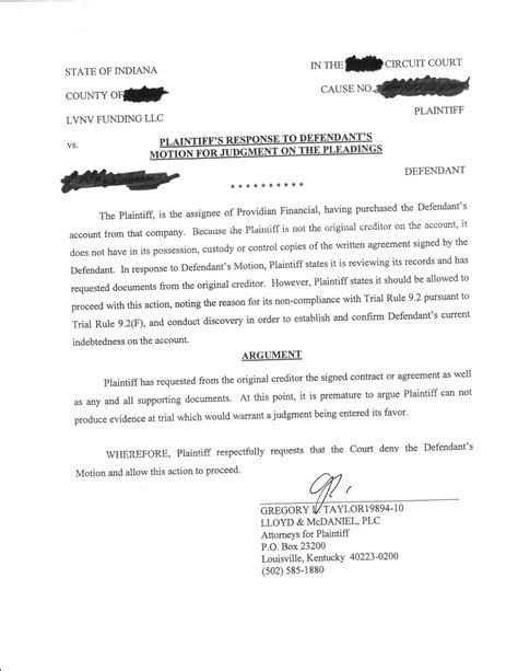 lvnv defendant response  request  admissions