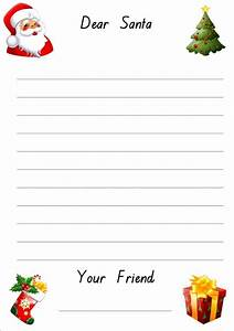 december write a letter to father christmas novel kicks With holiday letter writing paper