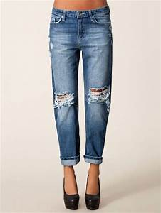Jeans baggy jeans jeans with holes overzised - Wheretoget