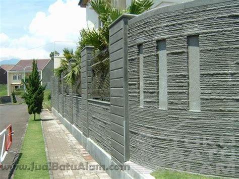 batu alam pagar batu alam rumah minimalis