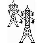 Transmission Telephone Power Line Pole Transparent Electricity