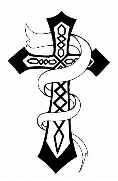Coloring Cross Crosses Celtic Pages Christian Roses