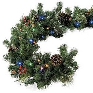 christmas light garland outdoor christmas decorating