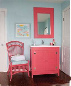 aqua and coral bathroom maine cottage girls bathrooms With aqua and coral bathroom
