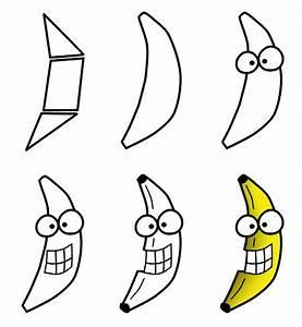 Drawing a cartoon fruit