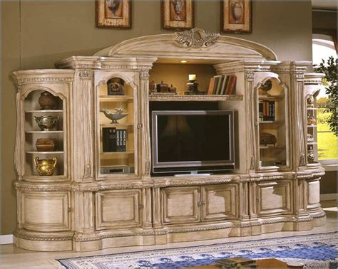 wall entertainment center  antique cottage jpg
