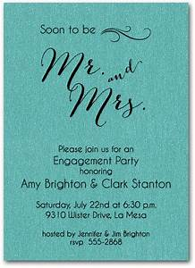 shimmery teal mr mrs invitations engagement party With wedding invitations wording mr and mrs