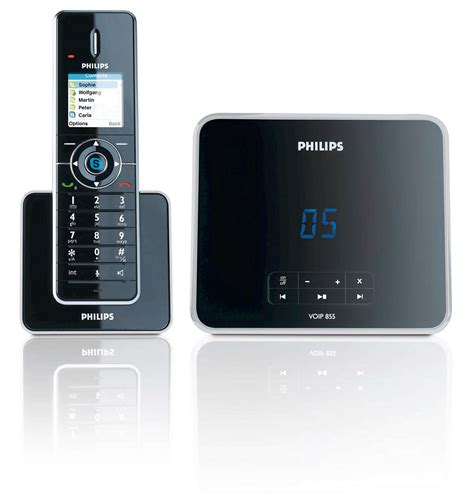philips si鑒e social design collection telefono cordless con segreteria voip8551b 26 philips
