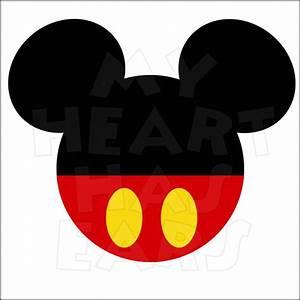 Mickey Mouse Face Vector - Cliparts.co