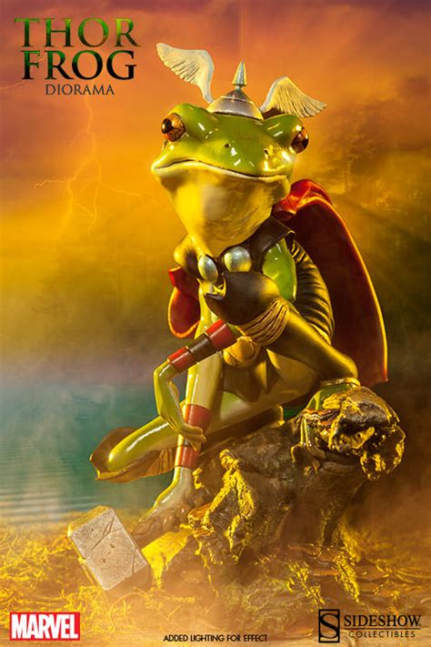 marvel thor frog diorama  sideshow collectibles