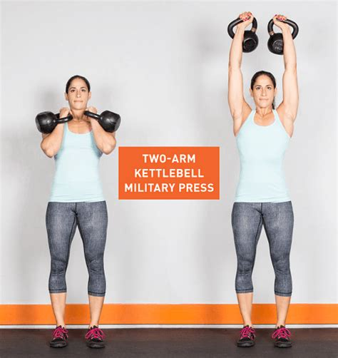 kettlebell arm exercises press military two workout kettlebells exercise greatist use workouts ass kb single fitness jerk routines body split