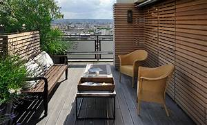 stunning amenagement terrasse exterieure appartement With beautiful idee de cloture exterieur 9 10 idees pour amenager une terrasse travaux