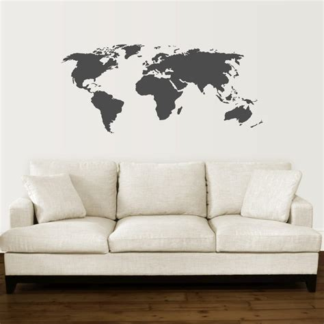 oversized world map wall quotes wall art decal wallquotescom