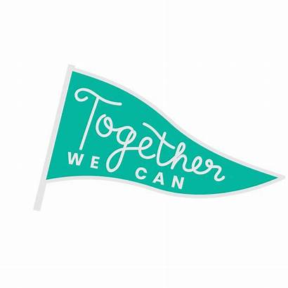 Ican Sticker Flag Giphy Togetherwecan Everything Together