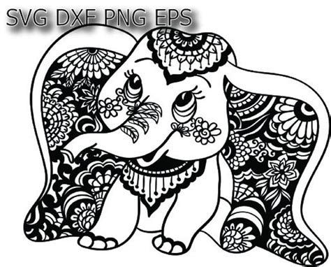 Claim your free download by using code: Elephant svg Baby elephant svg cute elephant svg mandala ...