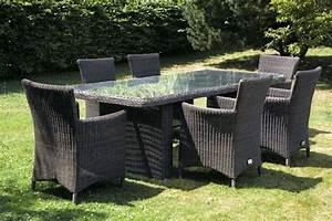 Table De Jardin Tressé : ensemble table et chaises de jardin en rsine tresse modle ~ Dailycaller-alerts.com Idées de Décoration