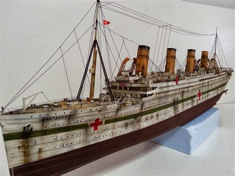 Rms Lusitania Model Sinking by Kitter S Scale Models 1 350 H M H S Britannic