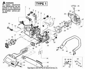 Poulan 2055le Gas Chain Saw Type 1  Woodsman 2055le Gas Saw Type 1 Parts Diagram For Chassis