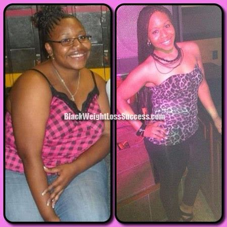 tiana lost   pounds black weight loss success