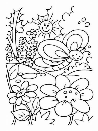 Coloring Summer Pages Printable Nature